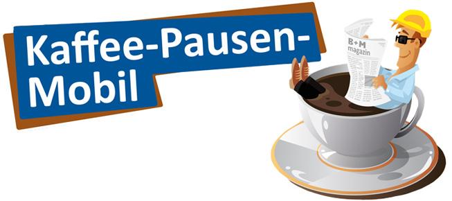 Handwerker in Deutschland machen Kaffeepause