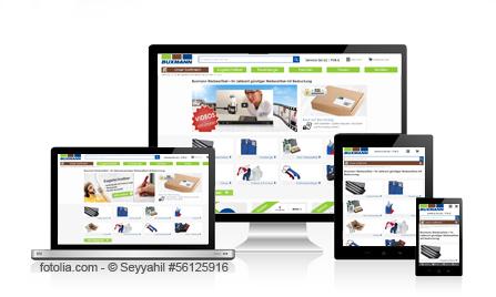 Buxmann Werbeartikel Shop im responsiven Design