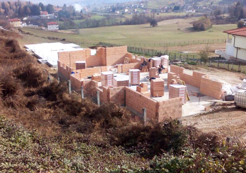 Bau von neuen Wohnpavillons