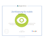 Google AdWords Mobil Zertifikat