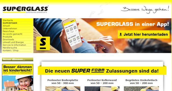 Alte Website von SUPERGLASS