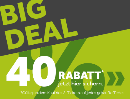 DER BIG DEAL – 40 % Rabatt!