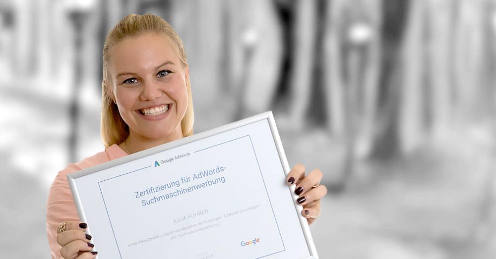 Google Partner: JuliaFührer