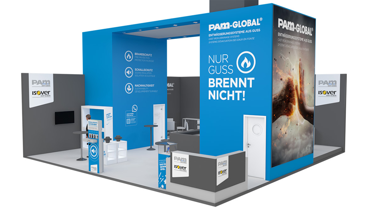 Messestand der ISH in 3D