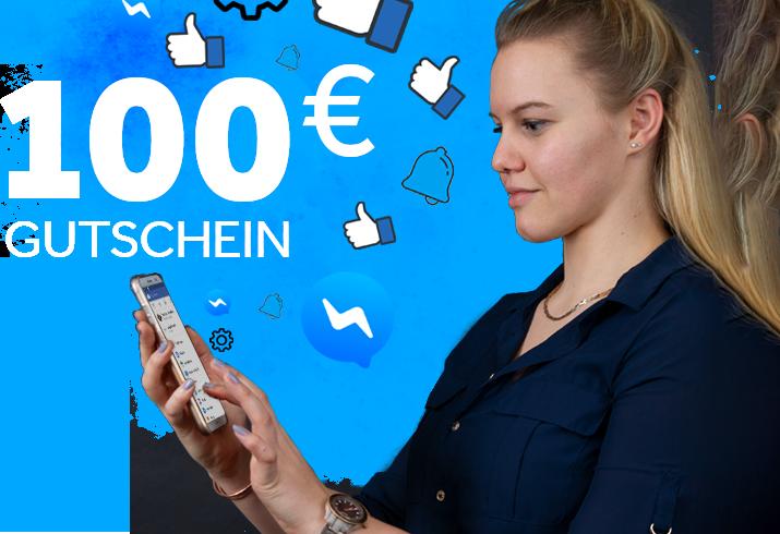 Jetzt 100€ Facebook Gutschein sichern