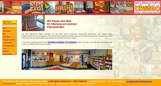 Alte Website – Ökotec Wichmann